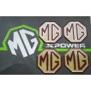 MG Alloy wheel centre badge inserts 4 off MG Logo