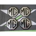 Alloy wheel centre cap badge inserts 4 off OEM Part Silver & Black