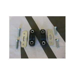 Pair Exhaust Hanger Rubbers Stainless Hanger Plates & Bolts