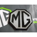 MGTF LE500 90mm Front Badge Insert Black on Silver