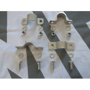Stainless Front & Rear ARB Saddles & Fitting Kit
