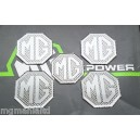 MGF MGTF Alloy wheel centre badge inserts + Air bag 5 off Carbon Silver