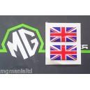 MGF MG F MGTF MG TF Union Jack x2 Stickers Red White & Blue