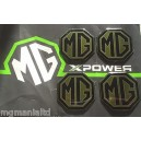 MG Alloy wheel centre badge inserts set of 4 Pearlesant Green