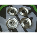 """MGZR MGZS Steel Centre Caps For 17"""" Alloy Straights MG Black on Silver New"""