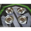 """MGZR MGZS Steel Centre Caps For 17"""" Alloy Straights MG logo Brand New"""