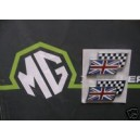 MGZR Twin Flag badge Pair Genuine MGRover DAG000070MMM Pair