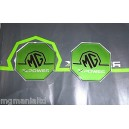 2x Front Rear XPower Pearlesent Green Badge Inserts New