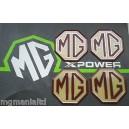 MGZR MG ZR Alloy wheel centre badge inserts 4 off MG Logo