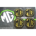 MG Alloy wheel centre badge inserts 4 off Pearlesant Yellow