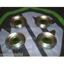 """MGZR MGZS Steel Centre Caps For 17"""" Alloy Straights XPower X Power Green"""