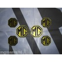 MGZR MG ZR 2x Front Rear 4x Centre Cap Pearlesent Yellow Badge Inserts New