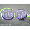 MGZS MG ZS 2x Front & Rear Pearlesent Blue Badge Inserts New