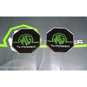 6f2ee487417 2x Front Rear XPower Badge Inserts Green on BlackNew - MG Mania Ltd