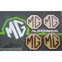 MGZS MG ZS Alloy wheel centre badge inserts 4 off MG Logo