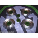 """MGZS MG ZS Centre Caps For 17"""" Straights + Front Rear Badges XPower Green"""