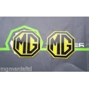 MGZS MG ZS 2x Front & Rear Yellow Badge Inserts New