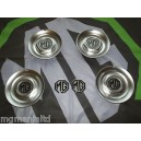 "MGZS MG ZS Centre Caps For 17"" Straights + Front Rear Badges Black on Silver"