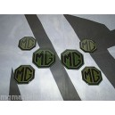 MGZS MG ZS 2x Front & Rear 4x Centre Cap Pearlesent Green Badge Inserts New
