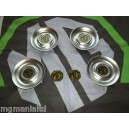 """MGZS MG ZS Centre Caps For 17"""" Straights + Front Rear Badges Pearlesent Yellow"""