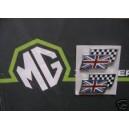 MGZS Twin Flag badge Pair Genuine MGRover DAG000070MMM Pair