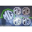MGZT MG ZT MGZT-T Alloy wheel centre cap badge inserts 4 off Silver on Black