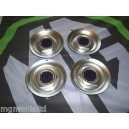"MGZT MG ZT MGZT-T Steel Centre Caps For 18"" Alloy Straights MG Pearlesent Blue"